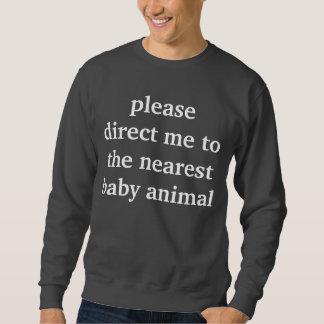 baby animal sweatshirt
