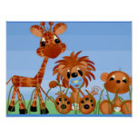 Baby Animal Wall Decor Posters