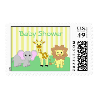 Baby Animals Baby Shower Postage Stamp