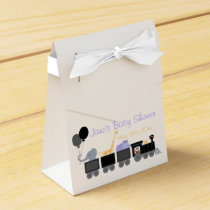 Baby Animals On A Train Baby Shower Gift Boxes