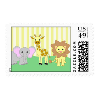 Baby Animals Postage Stamp