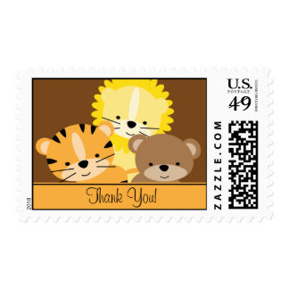 Baby Animals Thank You Postage Stamp