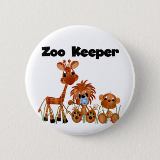 Baby Animals Zoo Keeper Tshirts and Gifts Button