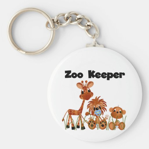 Baby Animals Zoo Keeper Tshirts and Gifts Key Chain