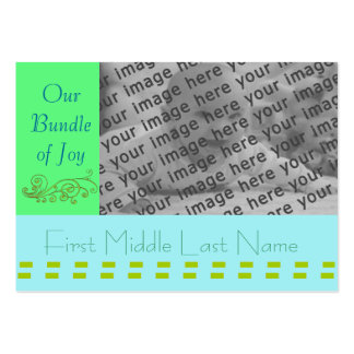 Baby Annoucement - Customized - Customized Large Business Card