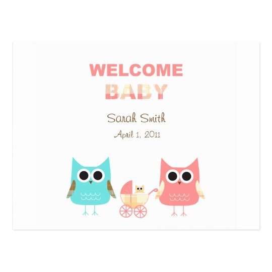 Baby Annoucement Postcard
