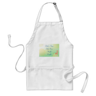 Baby Announcement Baby Deer Spring Background Adult Apron