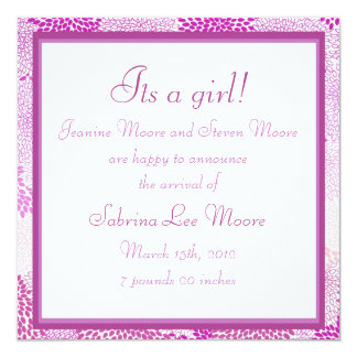 Baby Announcement (Girl)