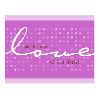 BABY ANNOUNCEMENT - love girl Postcard