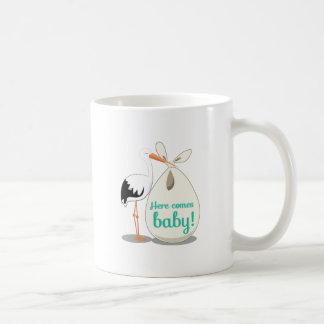 Baby Announcement Classic White Coffee Mug