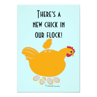 Baby announcement 'new chick in our flock'  Invita
