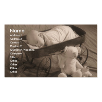 Baby Announcement or Infant Business Double-Sided Standard Business Cards (Pack Of 100)