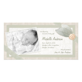 Baby Announcement Personalized photo card