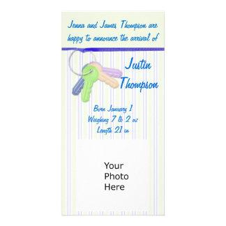 Baby Announcement Photocard Custom Photo Card