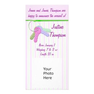 Baby Announcement Photocard Customized Photo Card