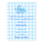 baby announcement postcard -