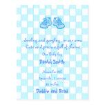 baby announcement postcard - blue