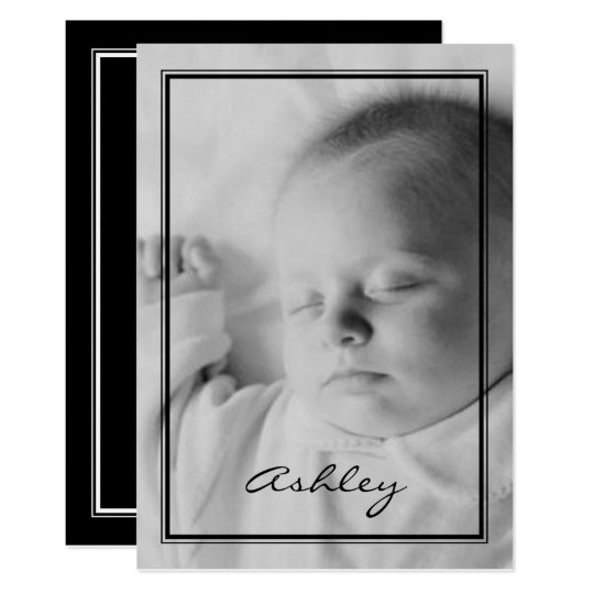 Baby Announcement with black border