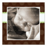 BABY ANNOUNCEMENTS :: chocolate drop 1SQ