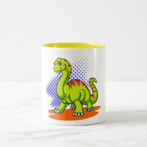 Baby Apatosaurus Two-Tone Coffee Mug