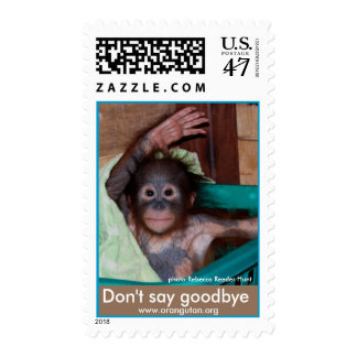 Baby Ape Waving Goodbye Postage