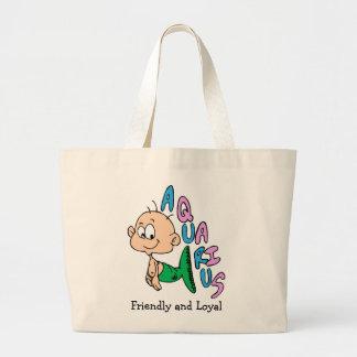 Baby Aquarius Large Tote Bag