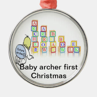 baby archer first Christmas Ornaments