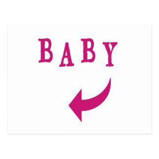 Baby Arrow Pink Postcard