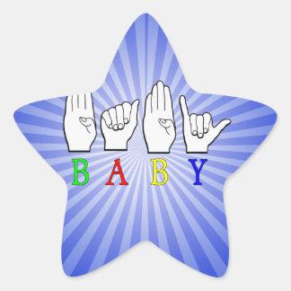 BABY ASL FINGERSPELLED NAME SIGN STAR STICKER