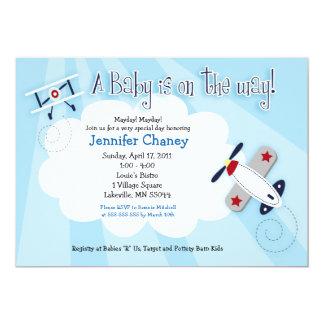 BABY AVIATOR Airplane 5x7 Baby Shower Invitation