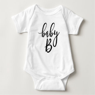 Baby B Black Handwritten Script Baby Bodysuit