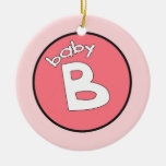 """Baby B"" Personalized Ornament for Multiples"