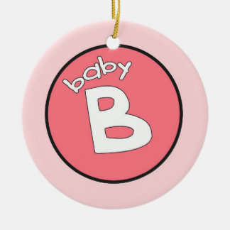 """""""Baby B"""" Personalized Ornament for Multiples"""