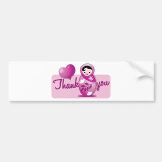 baby babushka thank you bumper sticker