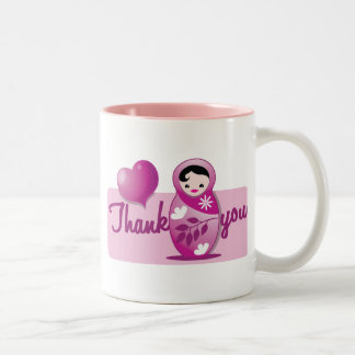 baby babushka thank you Two-Tone coffee mug