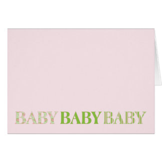 Baby, Baby, Baby Card