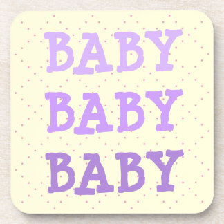Baby Baby Baby in Shades of Purple Coaster