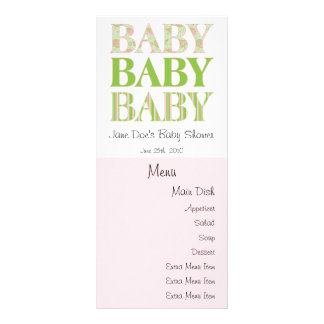 Baby, Baby, Baby Menu Card