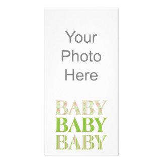 Baby, Baby, Baby Photo Card