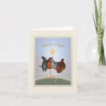 Baby backyard chicken Holiday Card