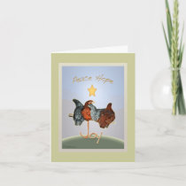 Baby backyard chicken Holiday Card