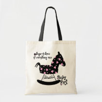 bag, tote, baby, baby-shower, pregnant, party, women, horse, shower, birthday, Bag with custom graphic design