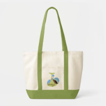 tote, bag, trendy, totes, baby-shower, baby, pink, party, wedding, Bag with custom graphic design