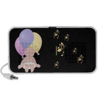Baby, balloons and music mini speaker