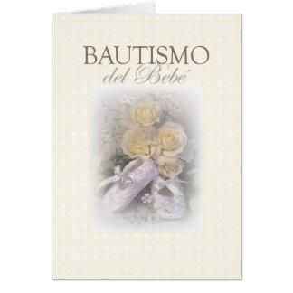 Baby Baptism Neutral, Spanish Card