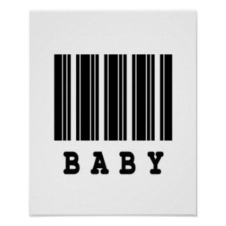 baby barcode design poster
