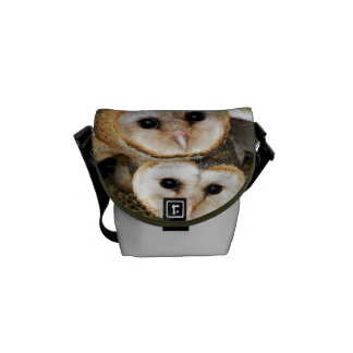 baby barn owls messenger bag
