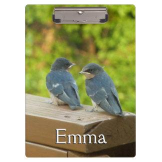Baby Barn Swallows Nature Bird Photography Clipboard
