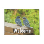 Baby Barn Swallows Nature Bird Photography Doormat