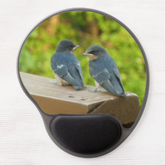 Baby Barn Swallows Nature Bird Photography Gel Mouse Pad